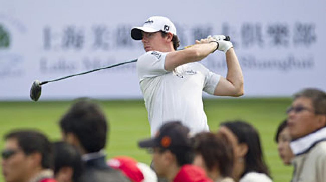 Rory McIlroy made four birdies on the back nine to shoot a 69.
