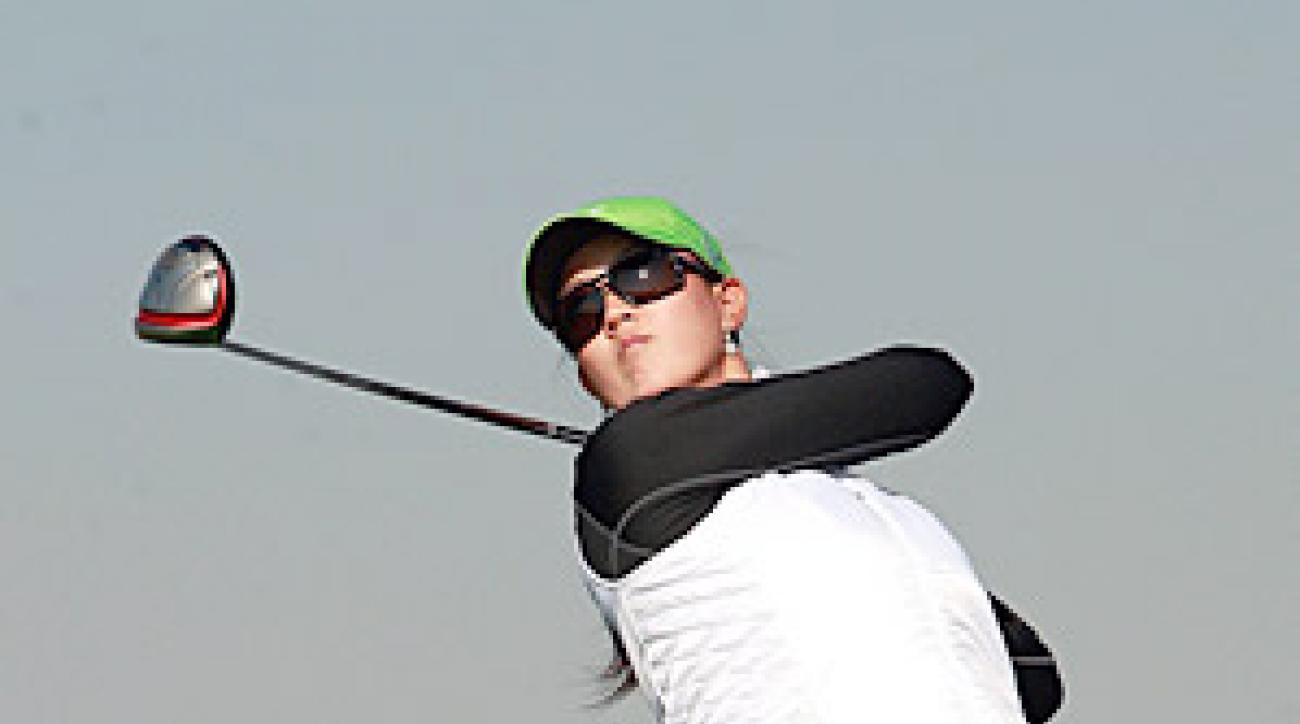 Michelle Wie is tied for fifth, two shots back of the leaders.