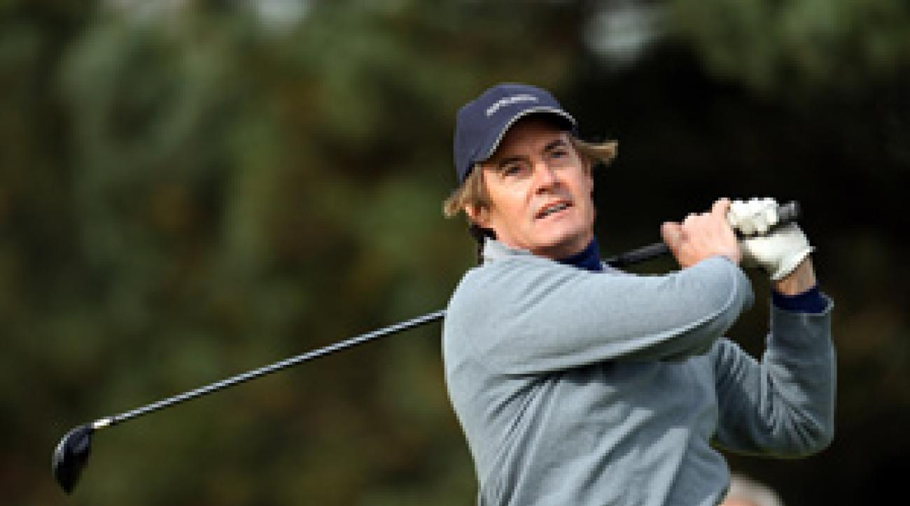 'Desperate Housewives' actor Kyle MacLachlan was paired with Paul McGinley at the Dunhill Links.