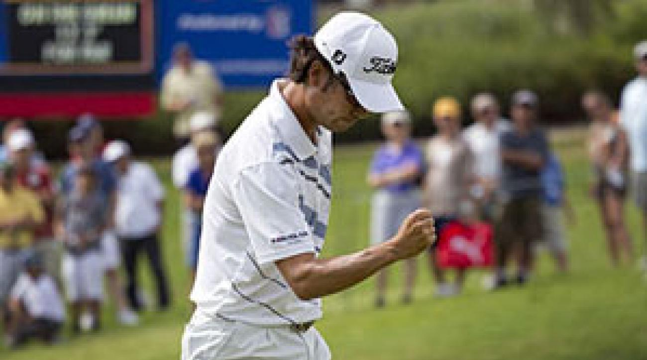 Kevin Na's birdie on 17 helped him win his first PGA Tour event.