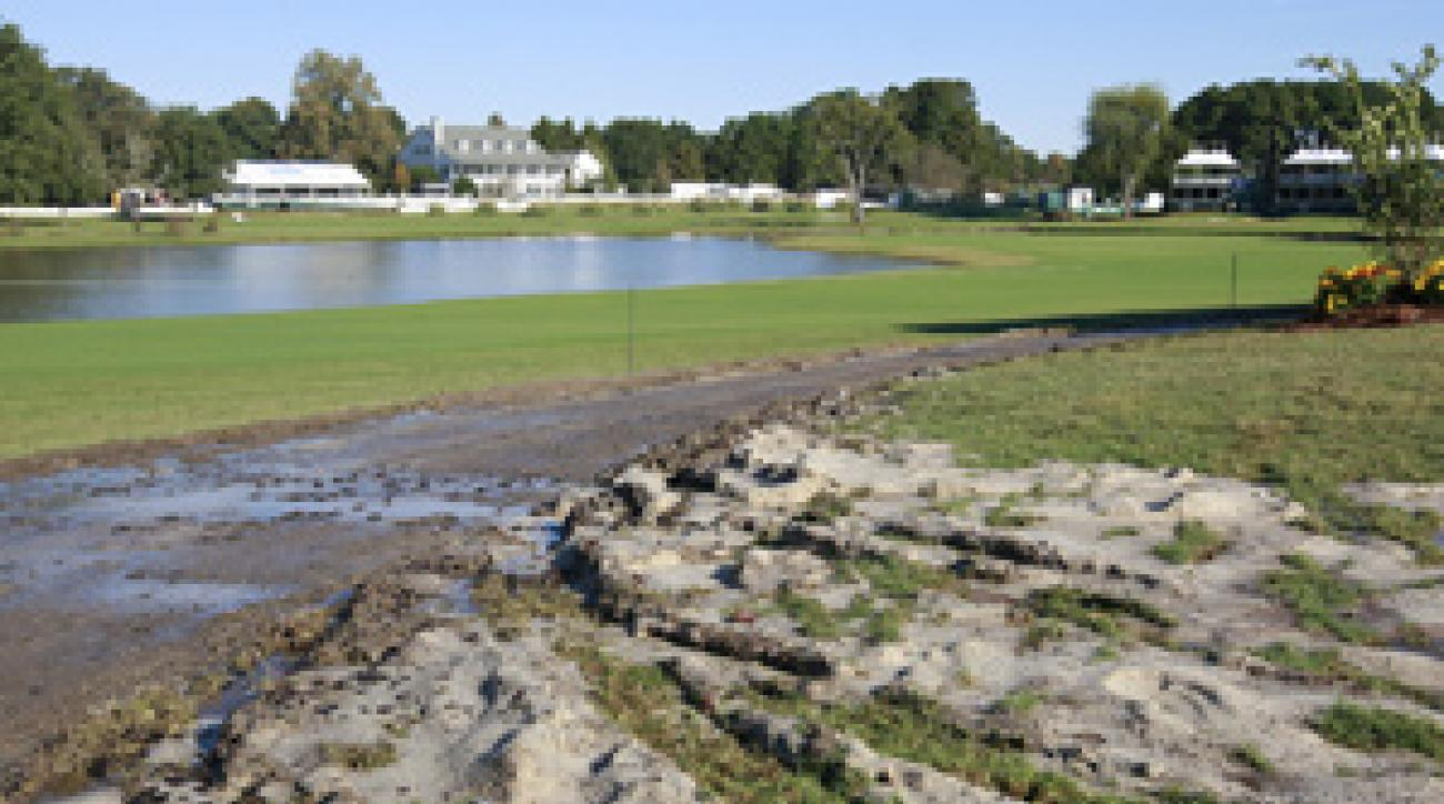 "PGA Tour officials compared conditions at Annandale Golf Club to a ""disaster zone."""
