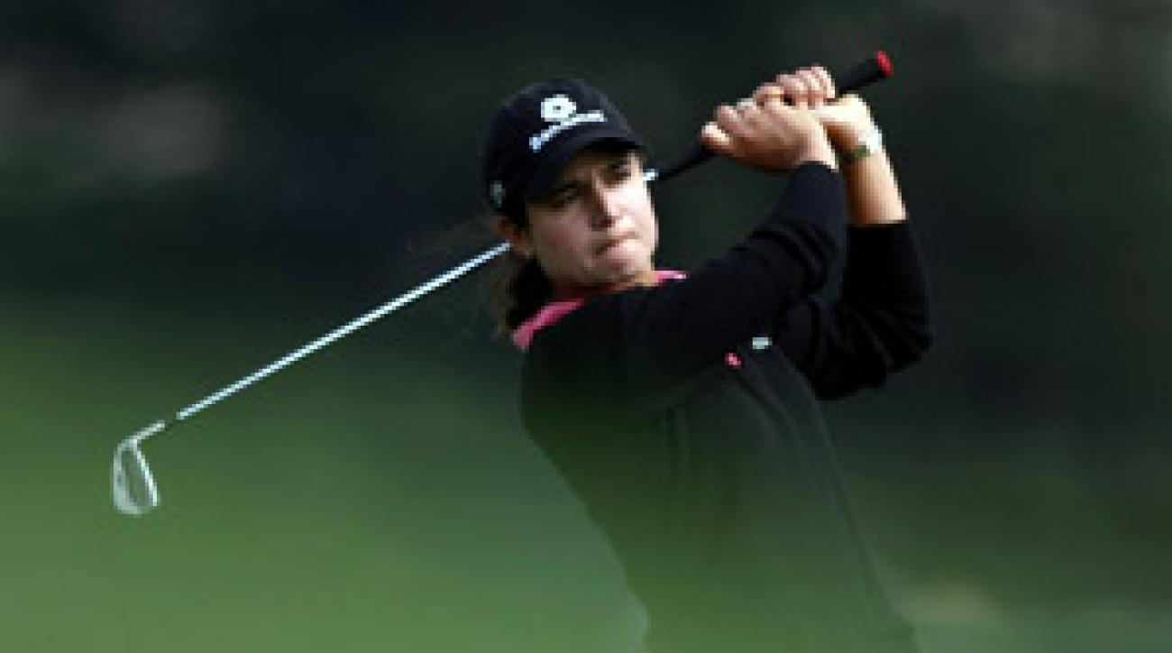 Lorena Ochoa finished the day two shots behind the leader.