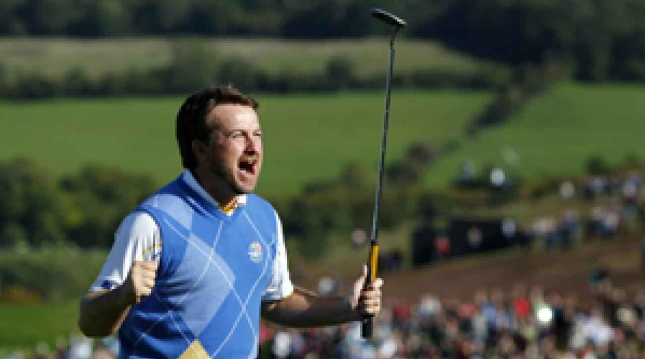 U.S. Open champion Graeme McDowell scored the winning point for Europe.