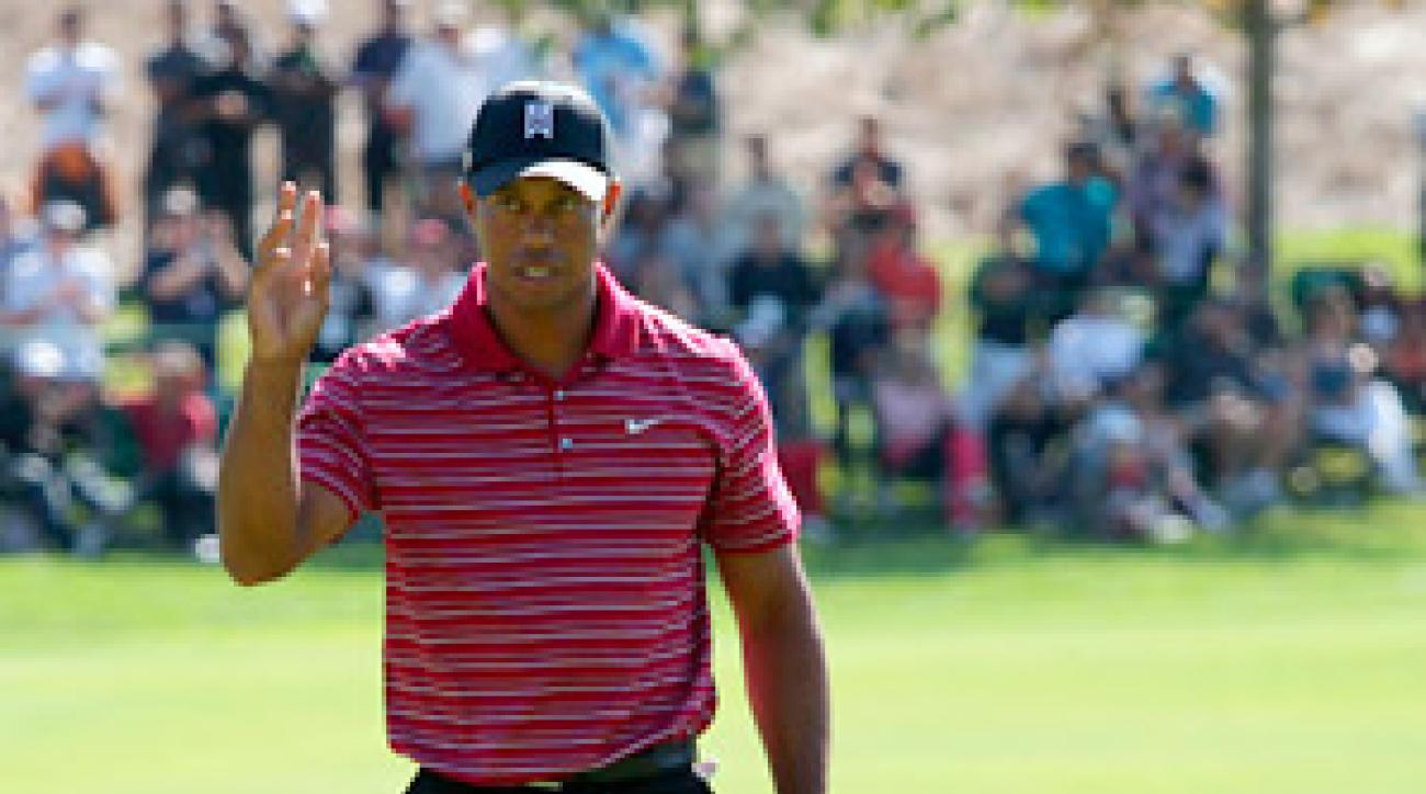 Tiger Woods fired a third straight round of 68 on Sunday.
