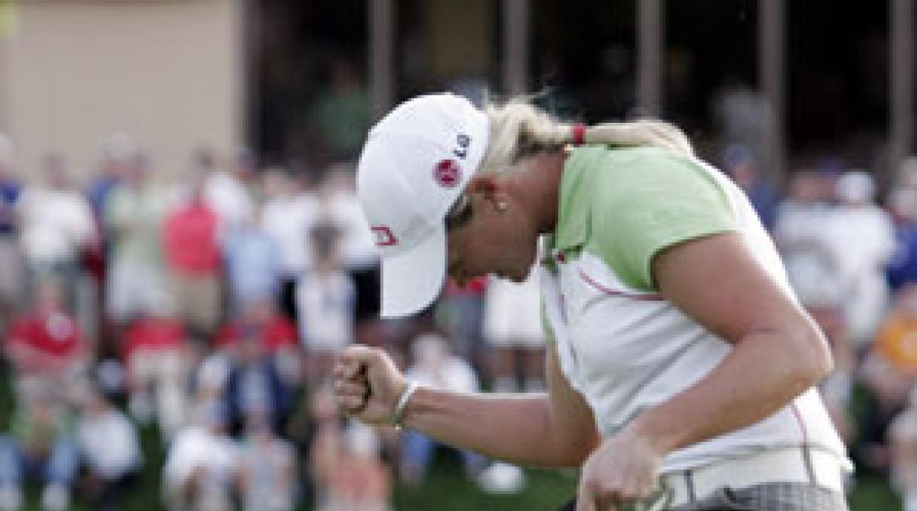 Suzann Pettersen beat Lorena Ochoa in a sudden-death playoff.