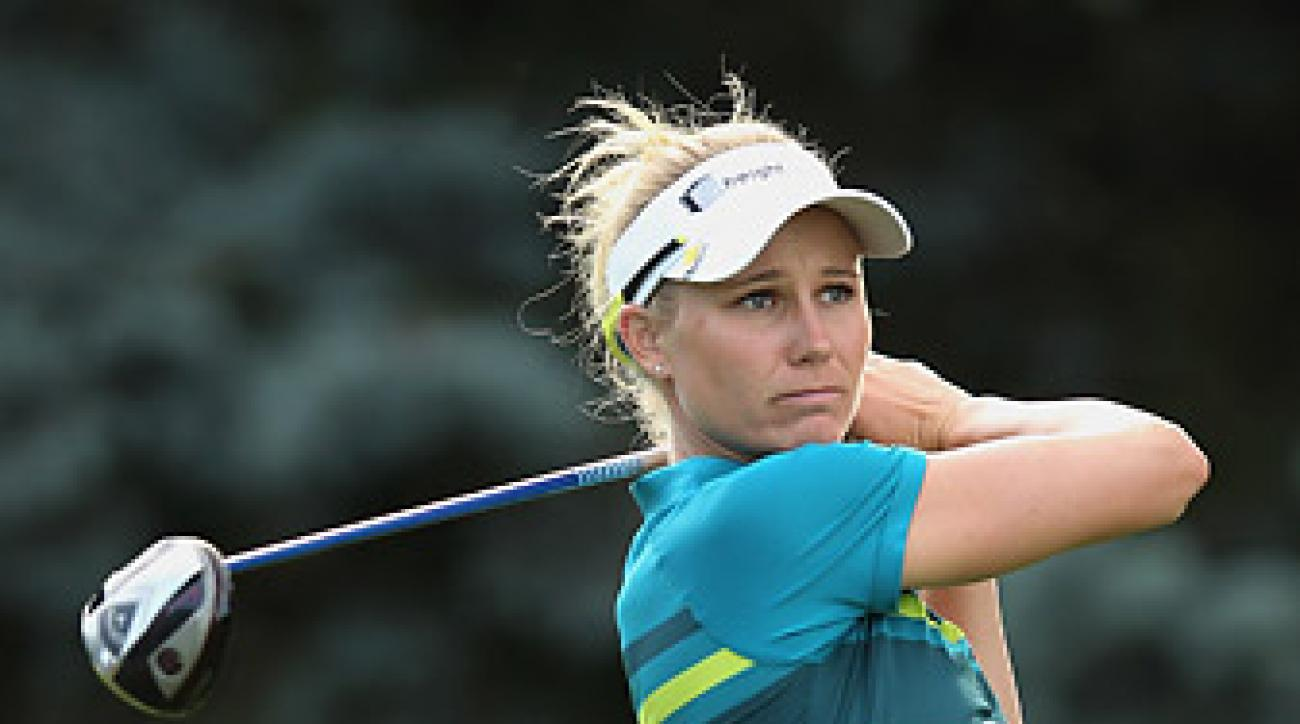 Ryann O'Toole's three-under 69 tied her for the LPGA Championship lead.