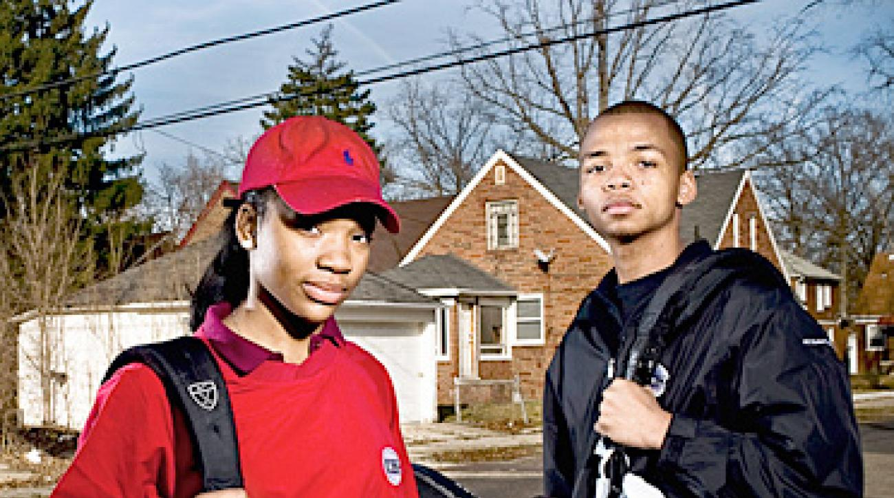 URBAN RENEWAL: Midnight Golfers Markita Kleckley and Kavon Lewis.