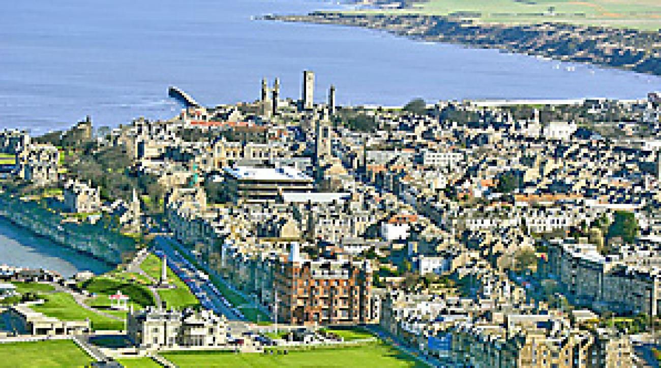 The 18th hole at St. Andrews provides some of the most striking views in all of golf.