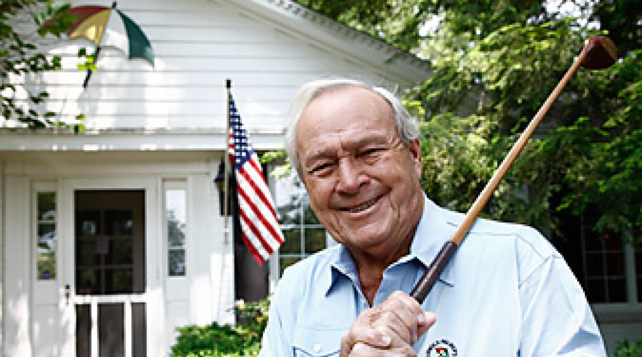 Arnold Palmer, photographed outside his home in Latrobe, Pa., in June 2011.