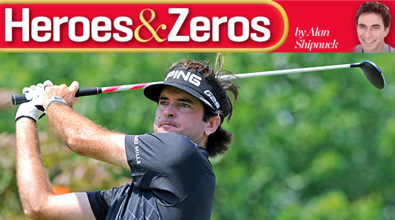Bubba Watson had a shot at the Travelers title on Sunday before making a triple-bogey 6 on the 16th hole.