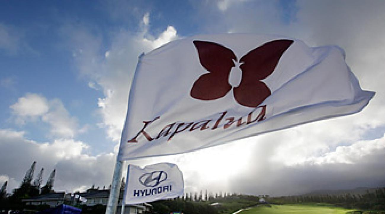 High winds continue to cause delays at Kapalua.