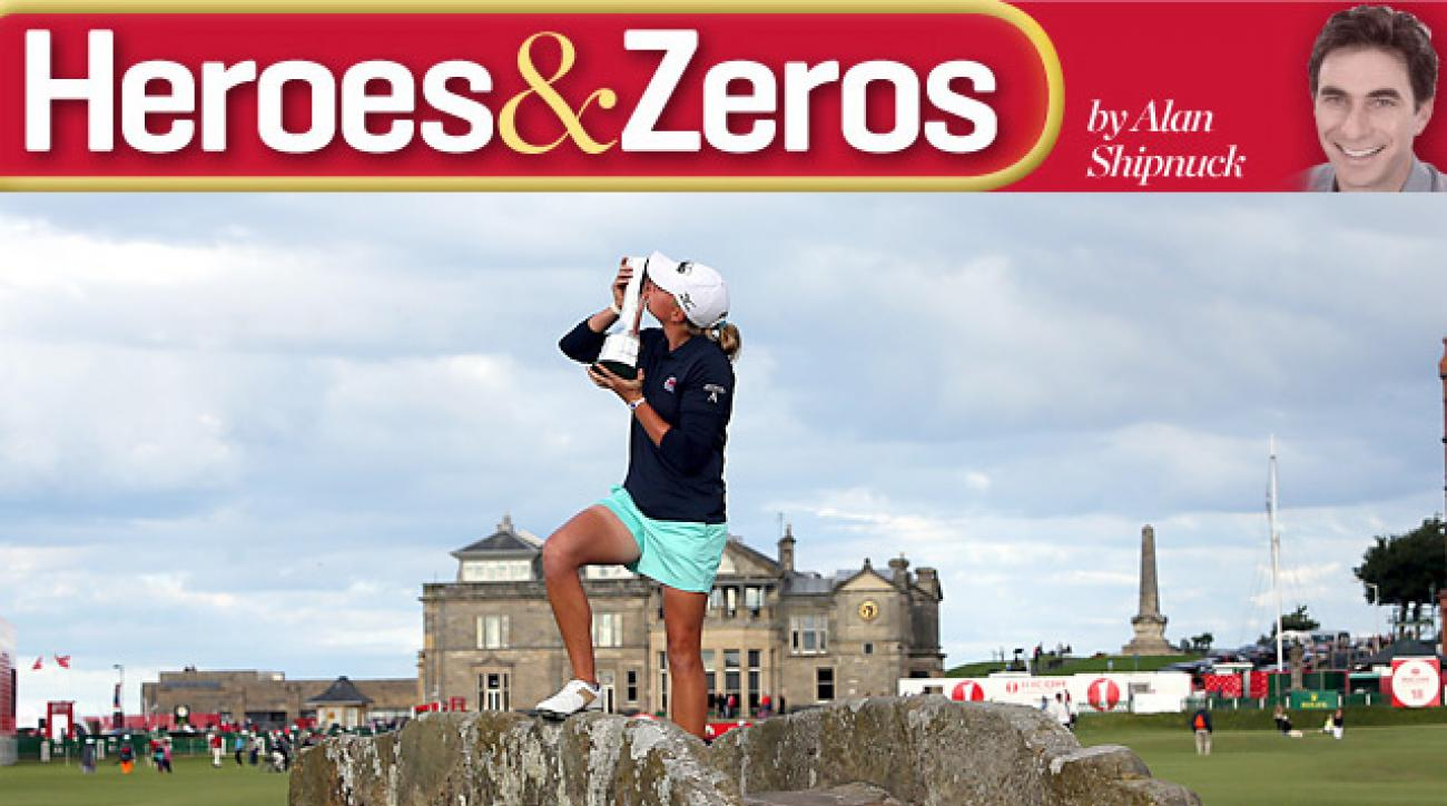 Stacy Lewis earned her second career major title by winning the Women's Open at St. Andrews.