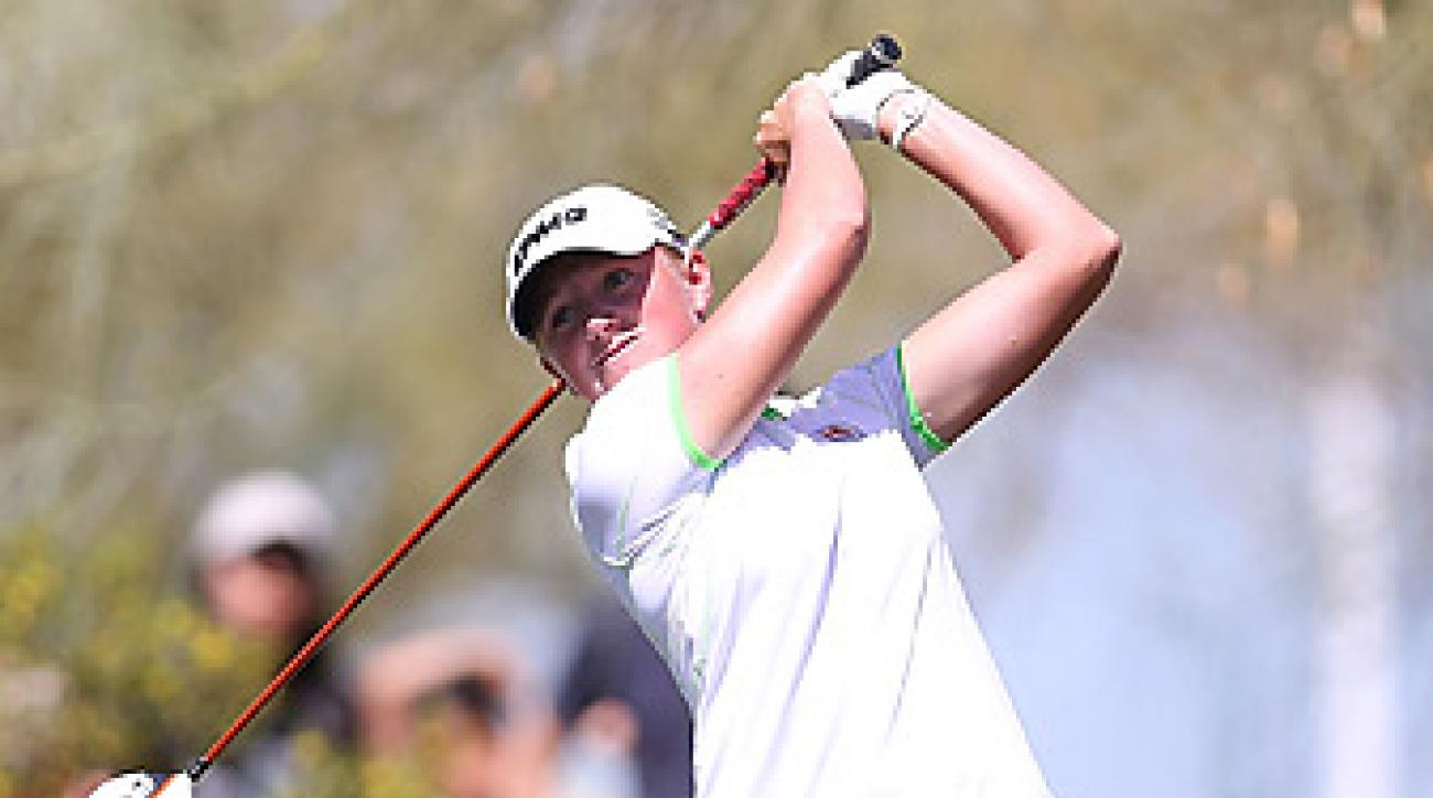 Stacy Lewis closed with a 64 to win the Founders Cup.