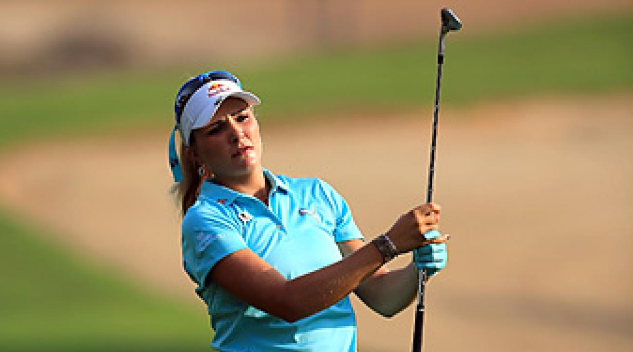 Lexi Thompson shot a bogey-free 68 in round 2.