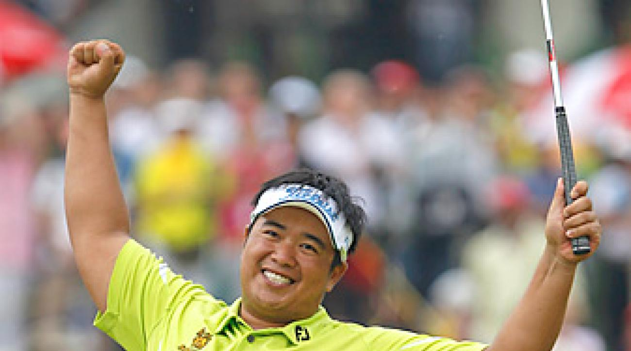 Kiradech Aphibarnrat shot a final-round 70 to win by one shot in Malaysia.