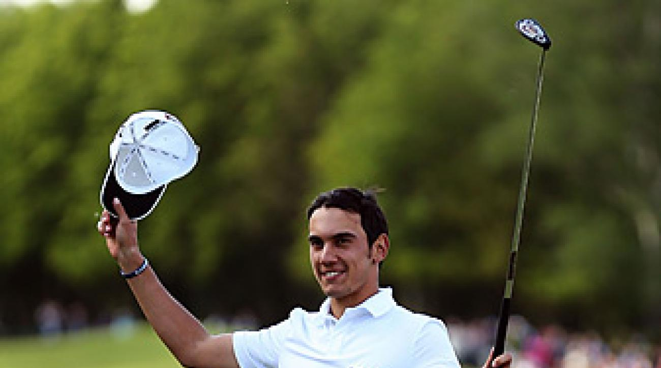 Matteo Manassero, 20, became the youngest winner at Wentworth.