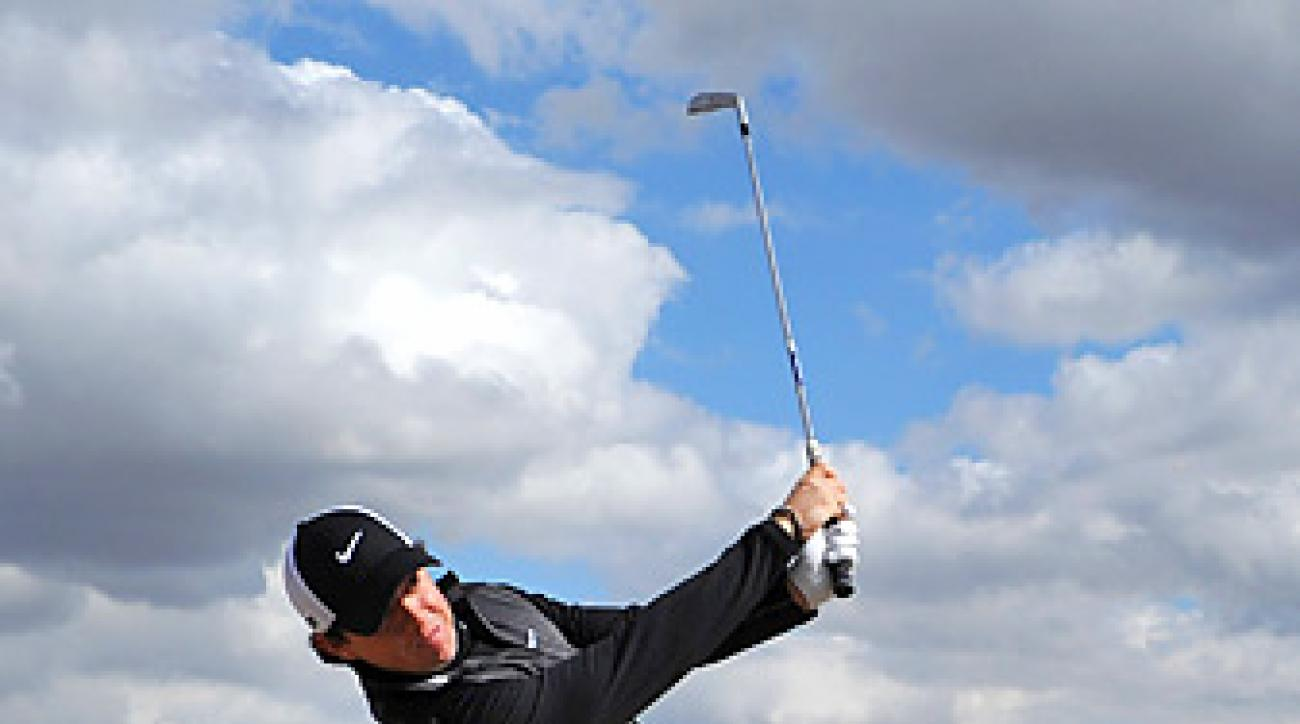 In his last event, Rory McIlroy was eliminated in the opening round of the Accenture Match Play.