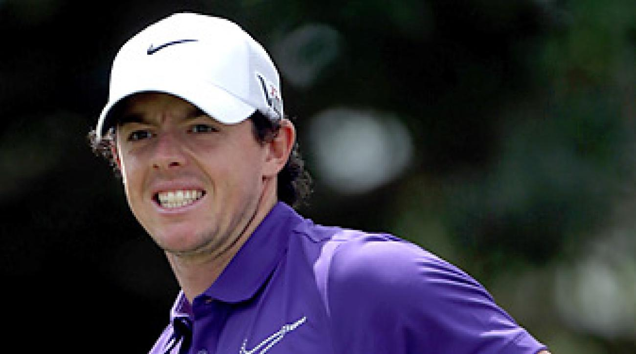 Rory McIlroy lost his No. 1 ranking to Tiger Woods on Monday.