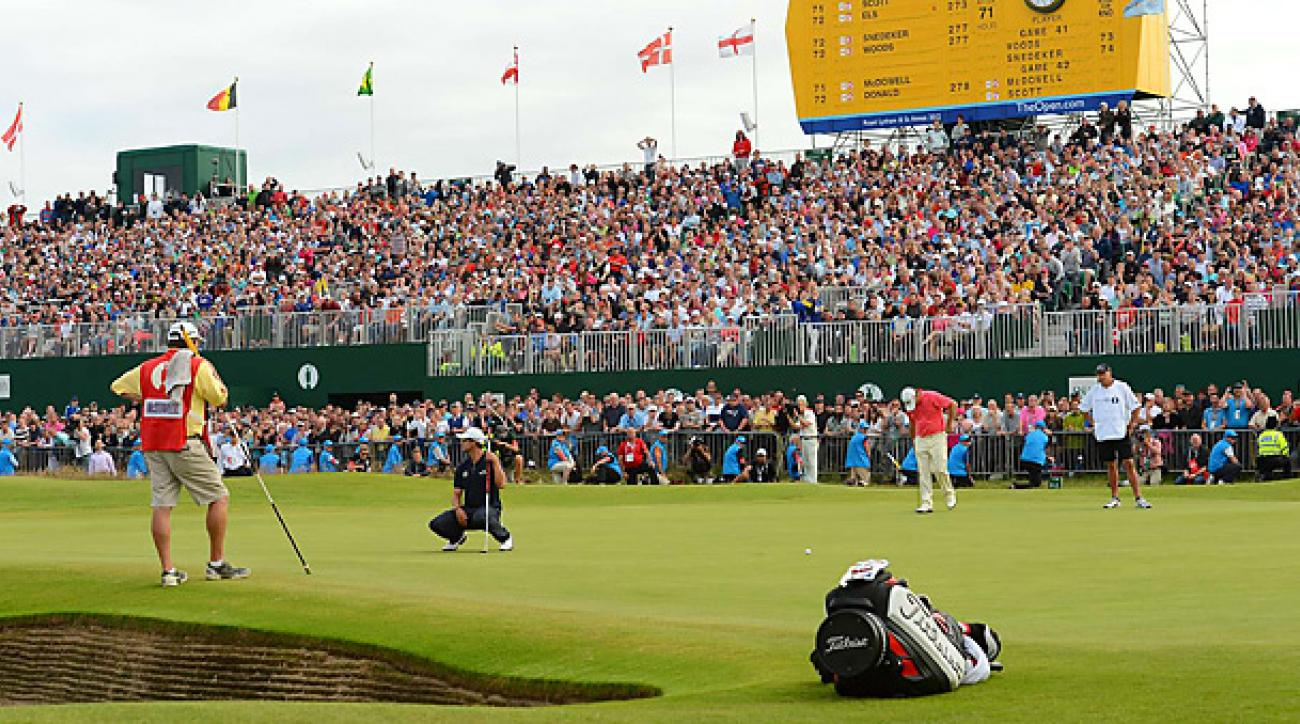 Adam Scott blew a four-shot lead with four holes remaining at the 2012 British Open.