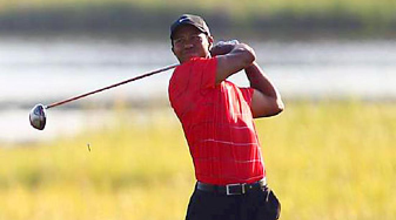 Tiger Woods went from tied for the lead to tied for sixth after the third round at the PGA.