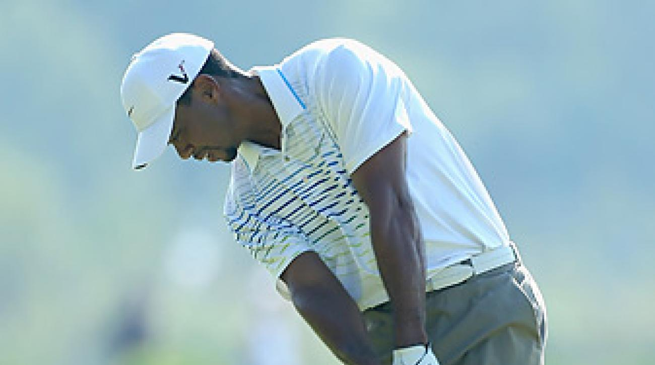 Tiger Woods tied for third at the 2012 event in Abu Dhabi.