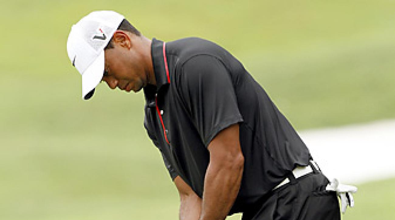 Tiger Woods has three victories in 2012.