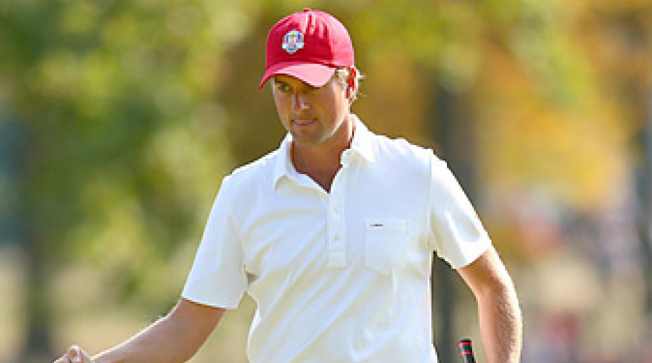 Webb Simpson won the 2012 U.S. Open while using a belly putter, and also used it at September's Ryder Cup (pictured).