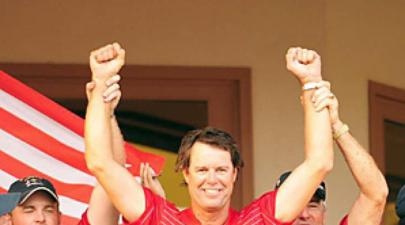 Paul Azinger captained the 2008 U.S. Ryder Cup team to an upset win.