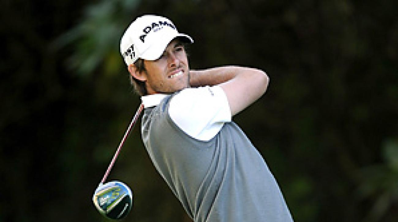 Aaron Baddeley is one of nine players tied at four under through one round at the Northern Trust Open.