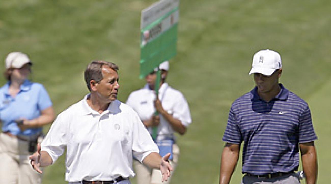 John Boehner's handicap is estimated at 7.9.