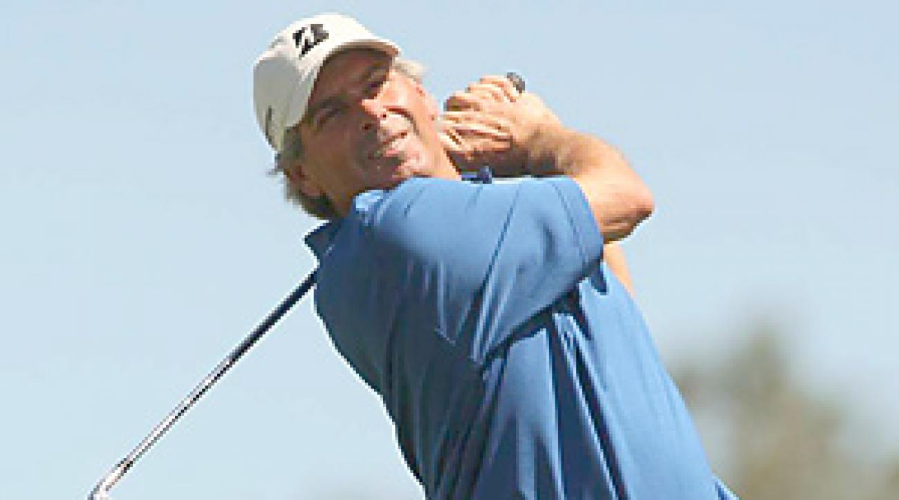 Fred Couples, the second-round leader, sagged on the weekend until back-to-back eagles on the back nine.