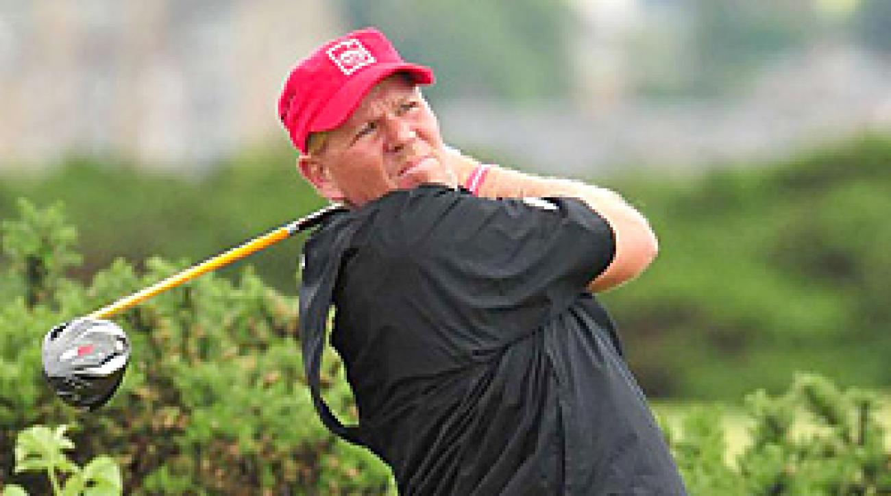 John Daly shot 74-73 on the weekend at St. Andrews to finish tied for 48th place.