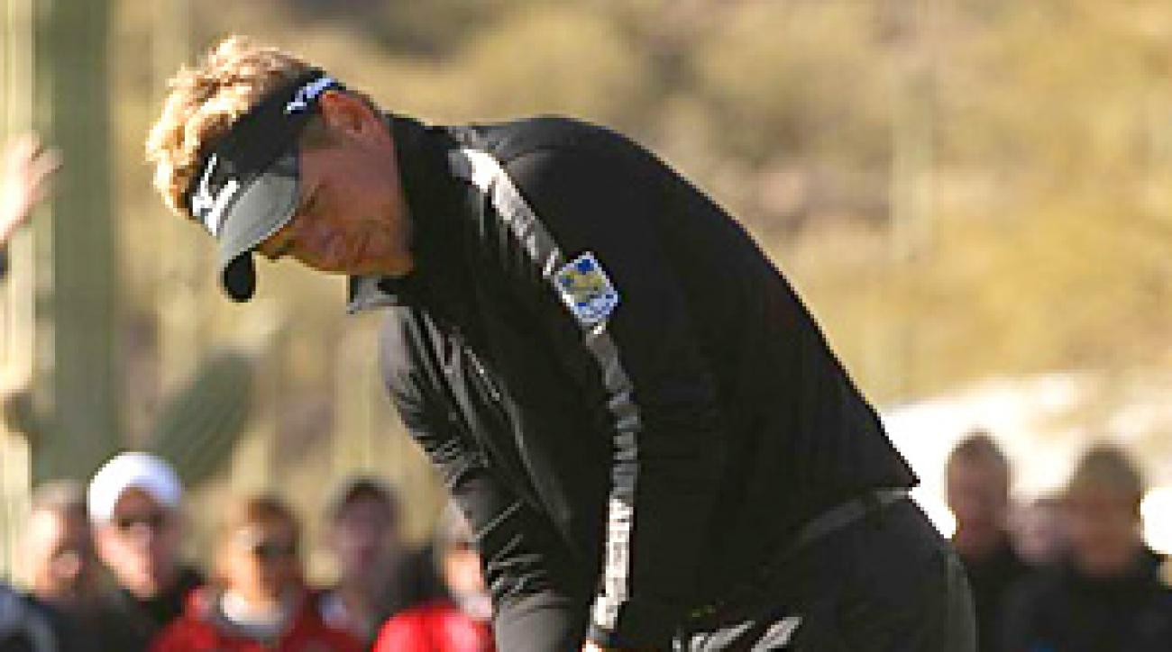 Luke Donald won the Accenture World Match Play title at Arizona in February and is looking to become the first player to win both match-play tournaments.