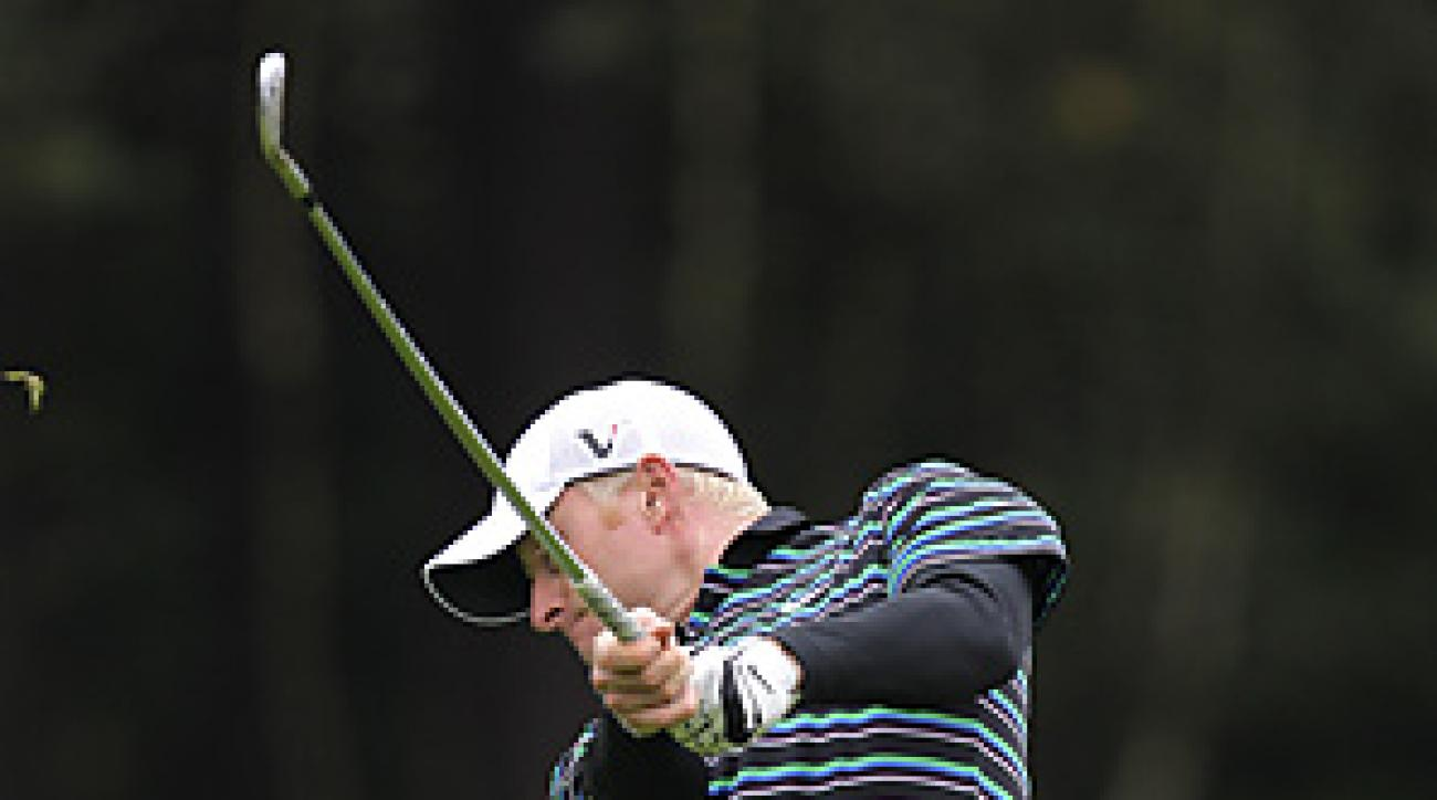 Simon Dyson had an eagle, five birdies and two bogeys in the opening round.