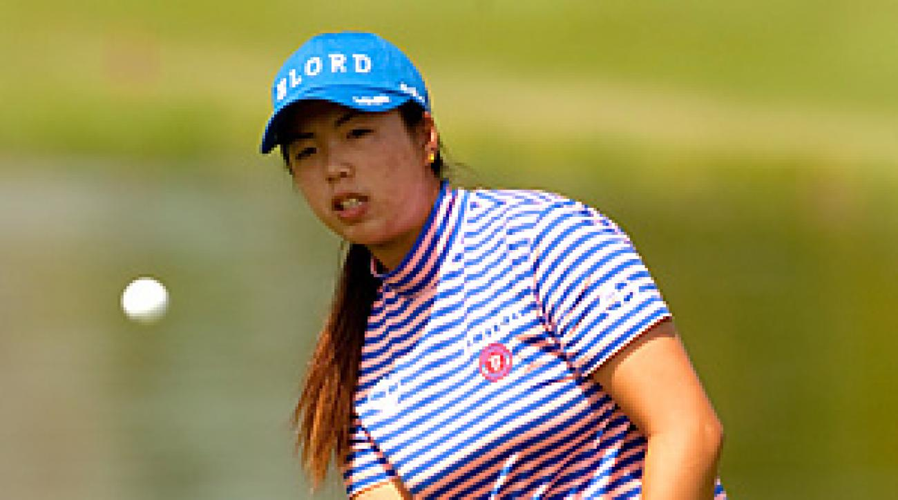 Shanshan Feng, the only Chinese-born player on the LPGA Tour, leads by one shot after an opening 64.