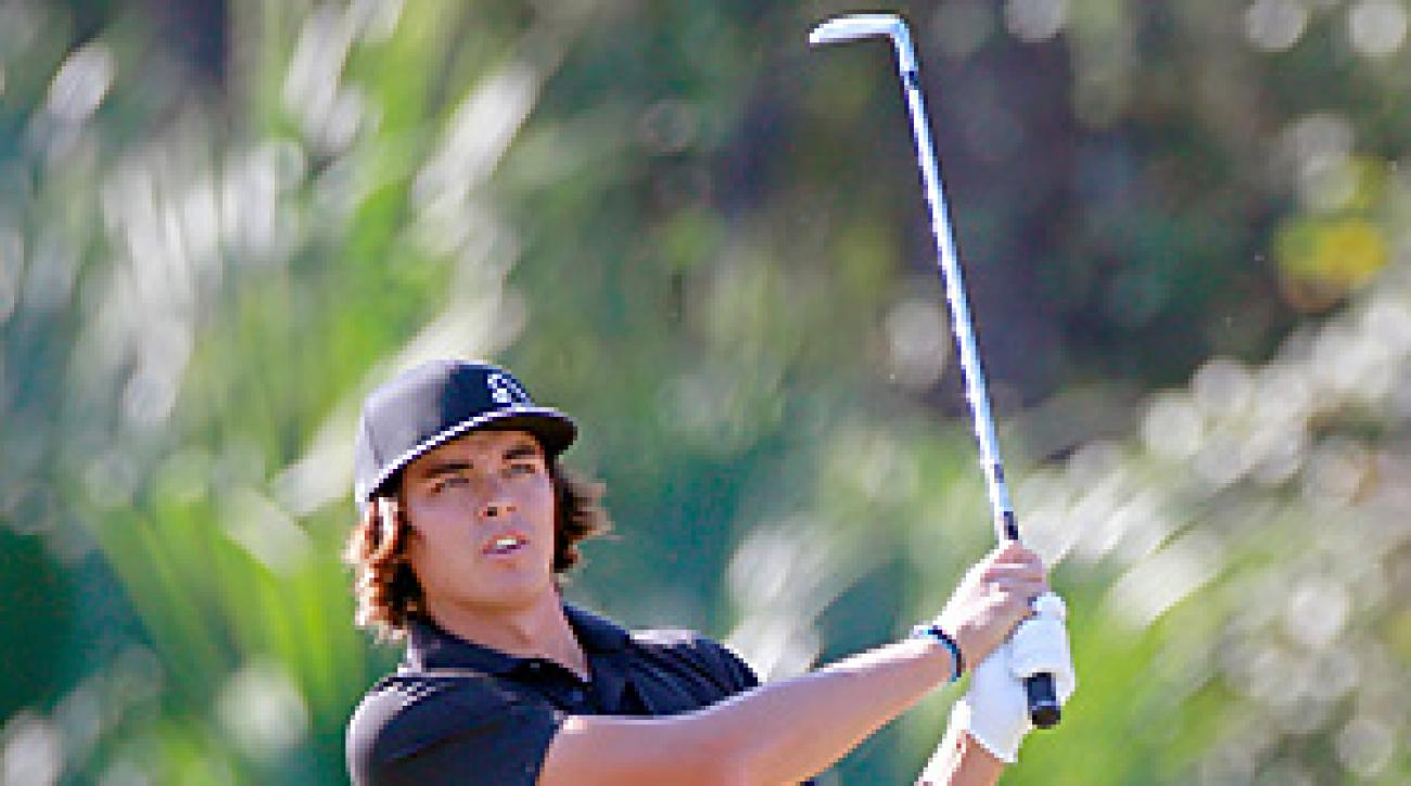 Rickie Fowler shot a six-under 66 in the first round at the Children's Miracle Network Classic.