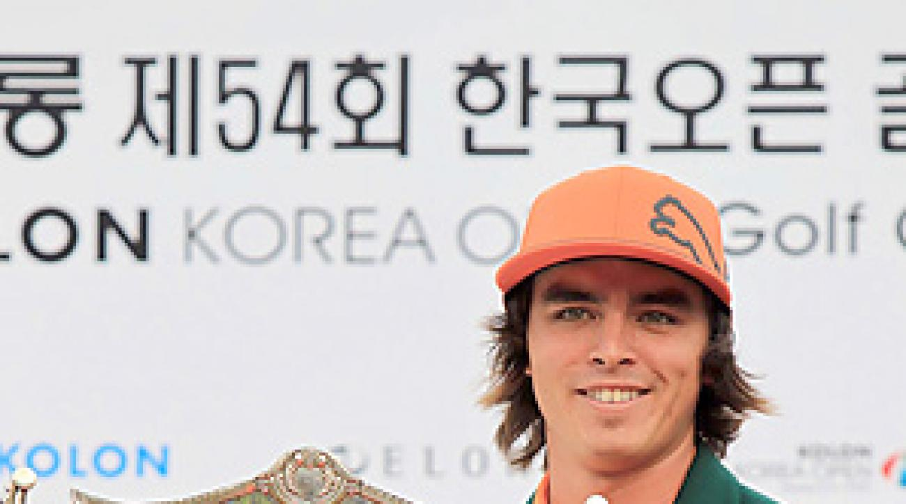 Rickie Fowler won his first professional title at the Korea Open.
