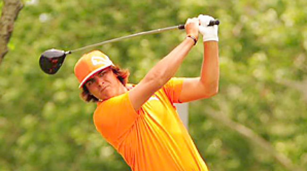 Rickie Fowler was in the hunt on Sunday at the Memorial, but finished in second behind Justin Rose.