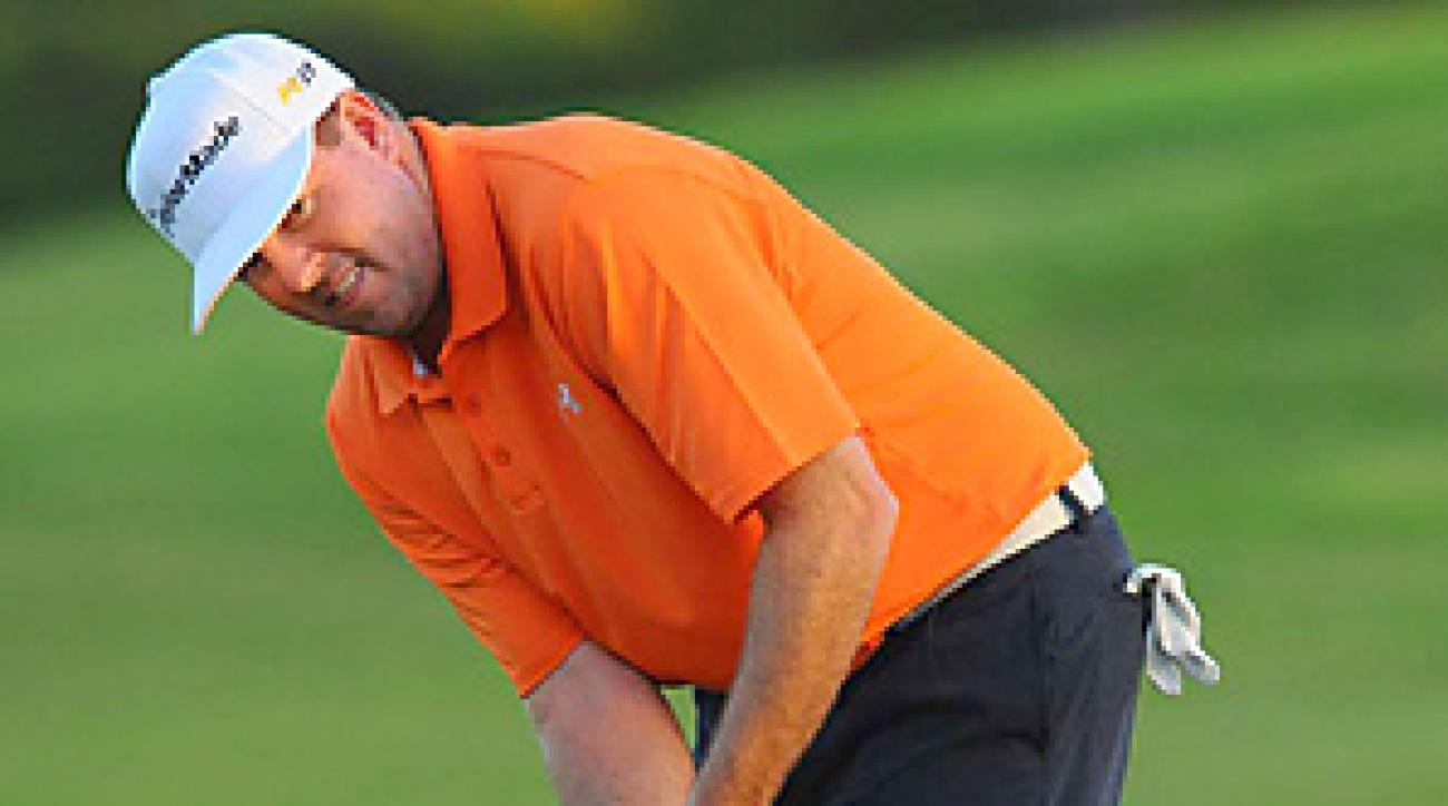 Robert Garrigus missed a three-foot putt on the second hole of the sudden death playoff on Sunday at Kapalua.