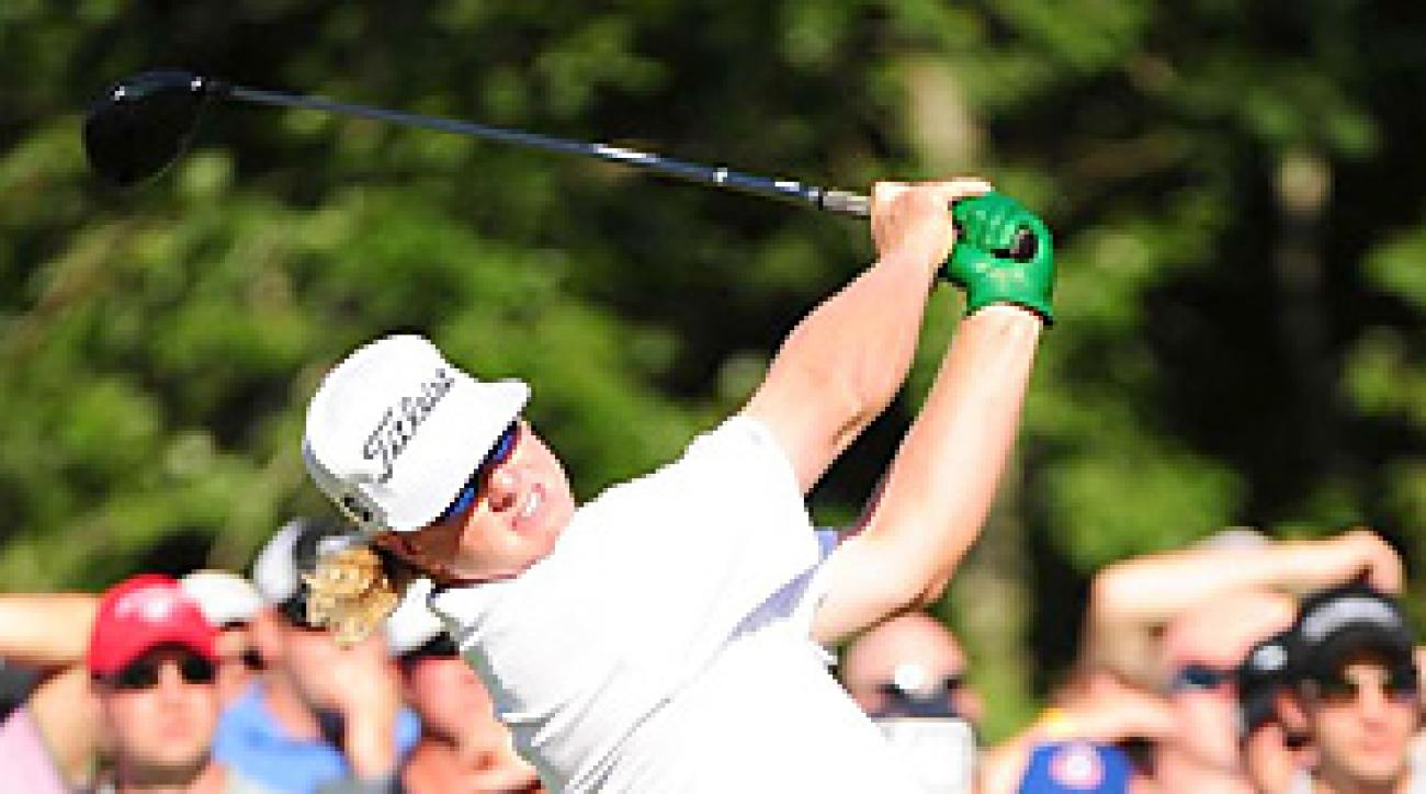 Charley Hoffman rang up 11 birdies in his final round at the Deutsche Bank Championship.