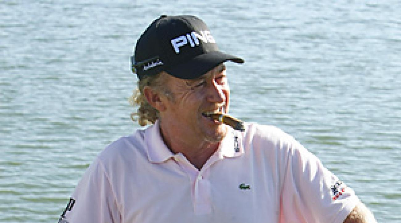 Miguel Angel Jimenez showed in France that he still has some game to go with his style.