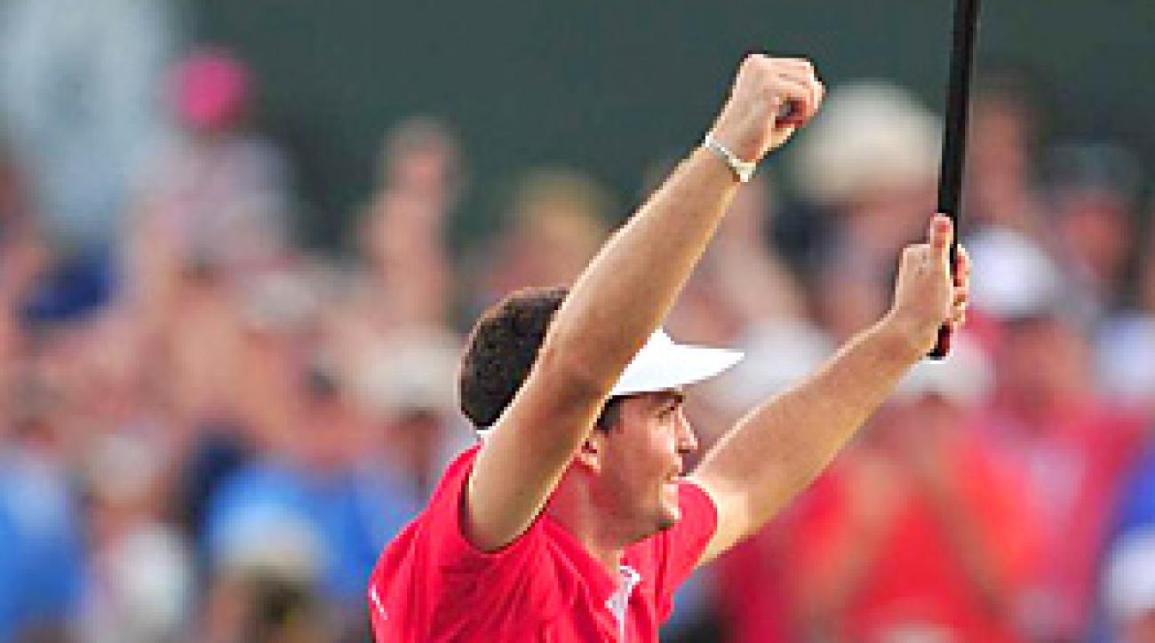 Keegan Bradley won the PGA Championship by beating Jason Dufner in a three-hole playoff.