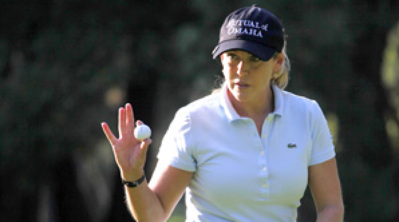 Cristie Kerr shot an 8-under 64 on Thursday at the Lorena Ochoa Invitational.