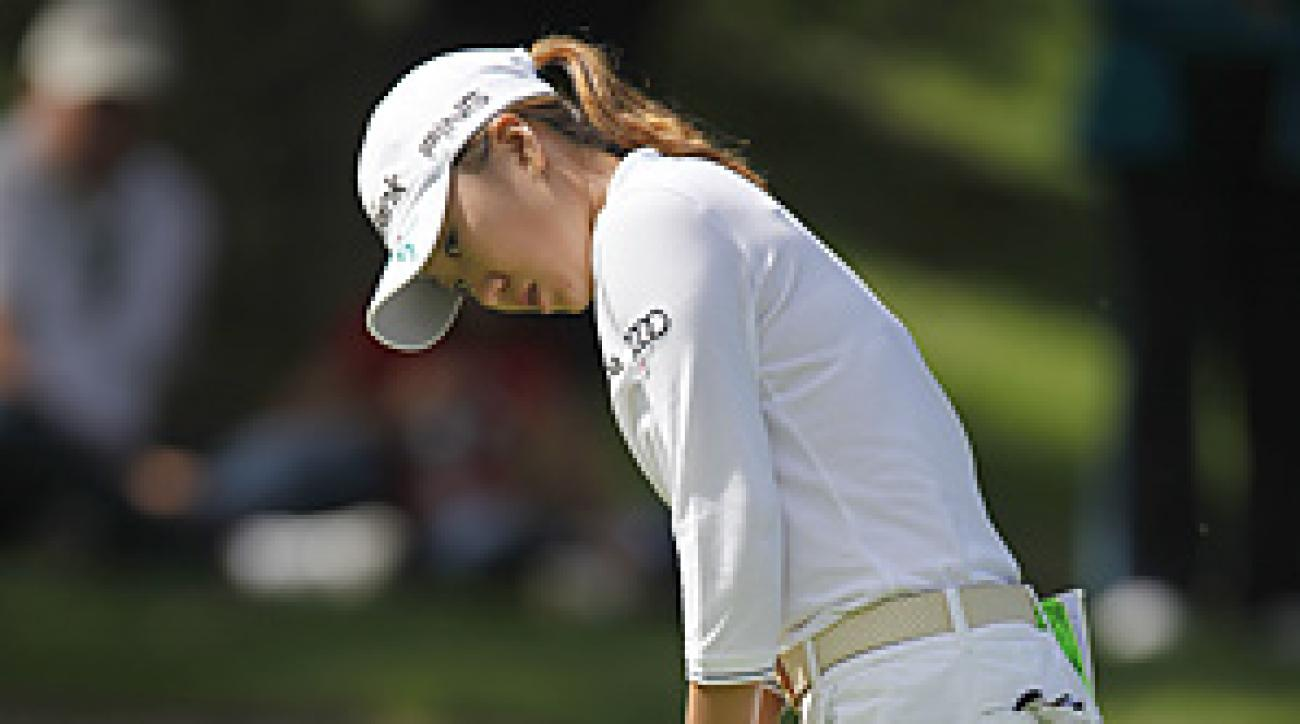 In-Kyung Kim matched the tournament record set by Cristie Kerr in the first round with her 64 on Sunday.