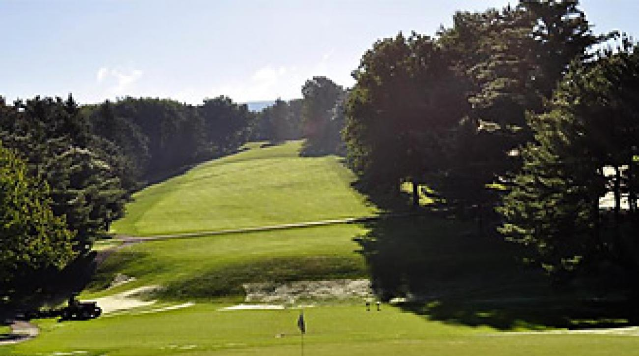 The par-4 first hole at Latrobe Country Club.