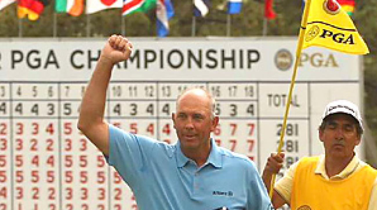Tom Lehman won the Senior PGA with a par on the first hole of sudden death.