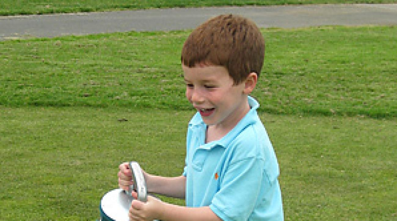 Ricky Lipsey, age 7, recently became hooked on golf.