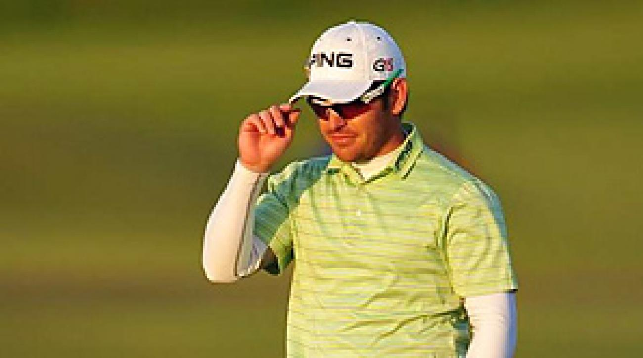 Louis Oosthuizen shot a 69 on Saturday to take a four-shot lead into the final round.