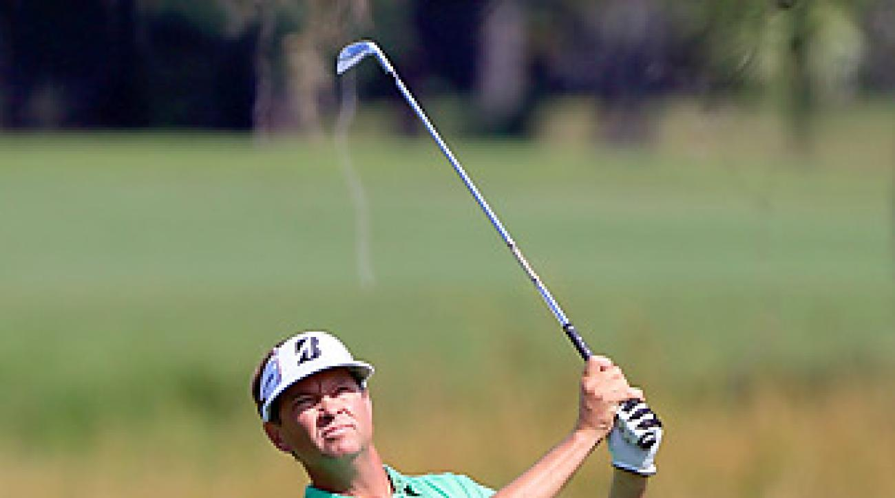 Davis Love III shot an opening-round 65 in the McGladrey Classic.