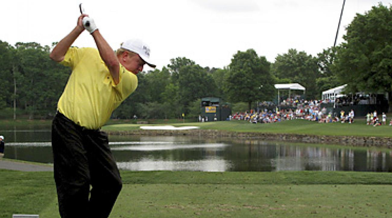Billy Mayfair and the rest of the field will have to contend with Quail Hollow's tough 17th hole this week.